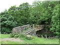SE0613 : Footbridge over the River Colne near Slaithwaite by Malc McDonald