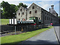 NN8649 : Buildings at Dewar's Distillery with tank engine by Trevor Littlewood