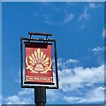 SK5839 : The sign of The Wheatsheaf by David Lally