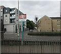 ST1974 : Bae Caerdydd / Cardiff Bay railway station name sign by Jaggery