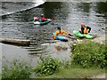SJ1943 : White water kayaks at the Horseshoe Falls by Oliver Dixon
