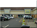SO8657 : One open, one closed - Elgar Retail Park, Worcester by Chris Allen