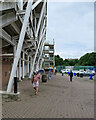 NZ2850 : Chester-le-Street: behind the County Durham Stand by John Sutton