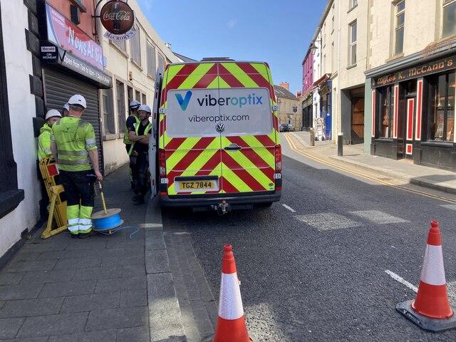 Road works, John Street, Omagh