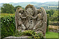 NT9437 : Intricate Angel Headstone at Ford Church Cemetery, Northumberland by Andrew Tryon