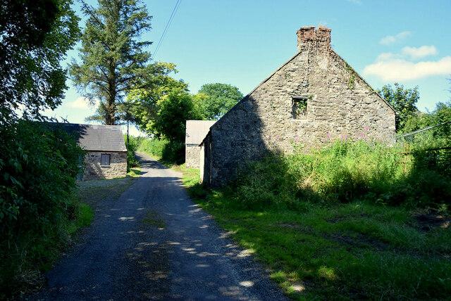 Old farm buildings along Dunmullan Road