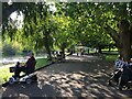 SP2864 : Sitting by the river, St Nicholas Park, Warwick by Robin Stott