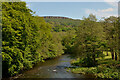 SK2380 : River Derwent and Millstone Edge from Leadmill Bridge, Derbyshire by Andrew Tryon