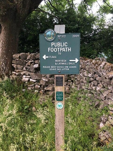 Peak & Northern Footpaths Society, Sign No 377