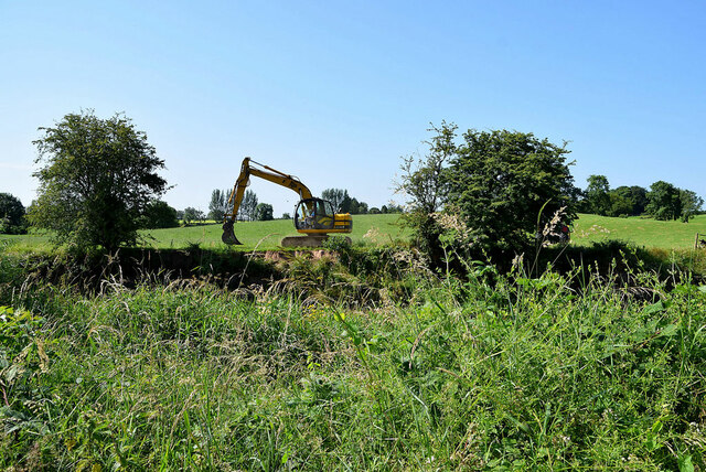Excavation work along the Camowen River