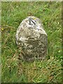 NY8912 : Old Boundary Marker by the A66 lay-by, east of Rowton Bridge, Stainmore parish by Milestone Society
