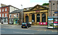 NY7708 : Shops, and Costa Coffee in a former bank building, Kirkby Stephen by Humphrey Bolton