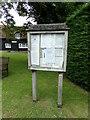 TL8637 : Henny Village Notice Board by Geographer