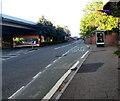 ST3089 : Elongated bus stop, Malpas Road, Crindau, Newport by Jaggery