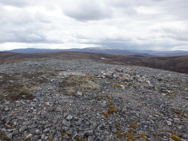 Summit, 797m above the Allt Cristie Mòr