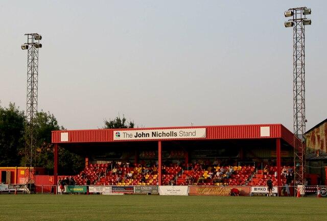 The John Nicholls Stand at the Banbury Plant Hire Community Stadium