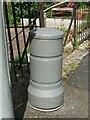 SH5872 : Telemetry bollard on Maes Isalaw, Bangor by Meirion
