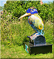 SO7204 : Kingfisher Sculpture at WWT Slimbridge by David Dixon