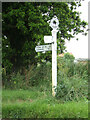 TM0035 : Signpost on the B1068 Park Road by Geographer