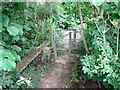 SK4041 : Stile and kissing gate by Ian Calderwood