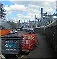 ST3088 : Veolia wheelie bin, Mill Street, Newport by Jaggery