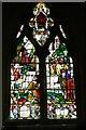 SO9226 : Stained glass window, Elmstone Hardwicke by Philip Halling