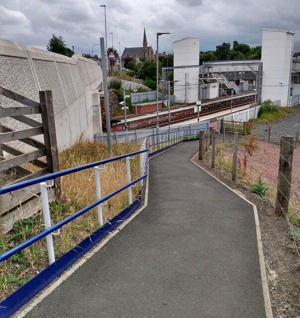 Ramp to West Calder Station