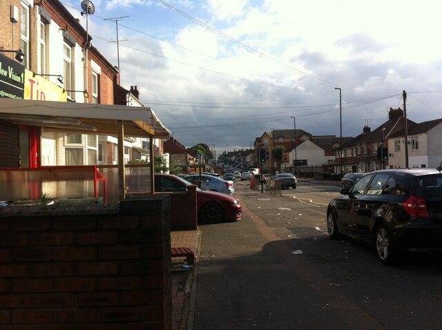 Foleshill Road looking south towards Station Street