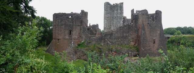 Goodrich Castle - View from the south