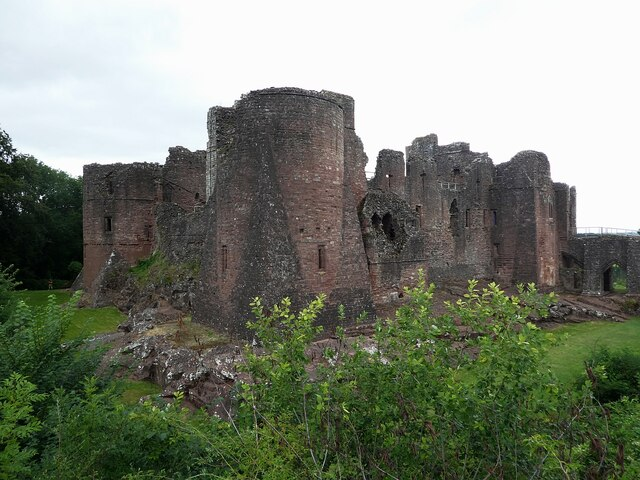 Goodrich Castle - from the southeast