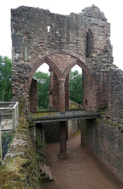 Goodrich Castle - North Range arches