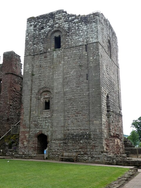 Goodrich Castle - The Keep from within the castle