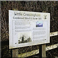 TF8600 : Little Cressingham wind and water mill information board by Adrian S Pye