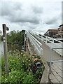 SO8453 : Footbridge over the entrance to the Oil Dock, Worcester by Chris Allen