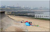 NJ9505 : Beach at Footdee, Aberdeen by Mat Fascione