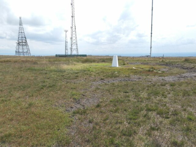 Trig pillar on Winter Hill