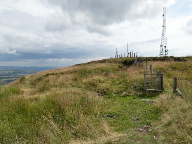 Fence line on the north side of Winter Hill
