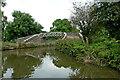 SJ8254 : Towpath bridge near Red Bull in Cheshire by Roger  Kidd