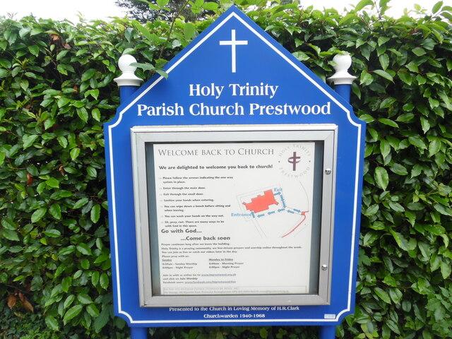 Information Board at Holy Trinity Church