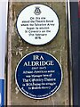 SP3378 : Plaques remembering the Coventry Theatre/Theatre Royal and its connections with the Salvation Army and Ira Aldridge by Alan Paxton