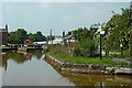 SJ8354 : Canal at Hardings Wood Junction in Staffordshire by Roger  Kidd