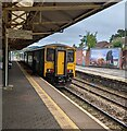 ST1586 : 150230 at Caerphilly station by Jaggery