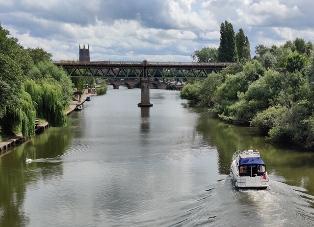 Boat on the River Severn at Worcester