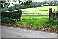 NY5536 : Field gateway on west side of B6412 south of Great Salkeld by Roger Templeman