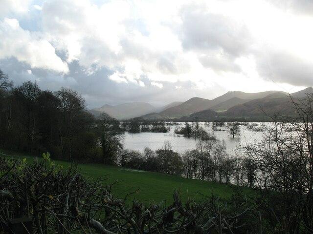 Floods near Keswick in 2009