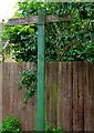 SO8457 : Fingerpost at end of Park View Terrace, Worcester by P L Chadwick