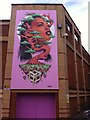 SP3378 : Green Woman in Pepper Lane, Coventry by Alan Paxton