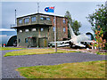 NX9978 : Former RAF Control Tower, Dumfries and Galloway Aviation Museum by David Dixon