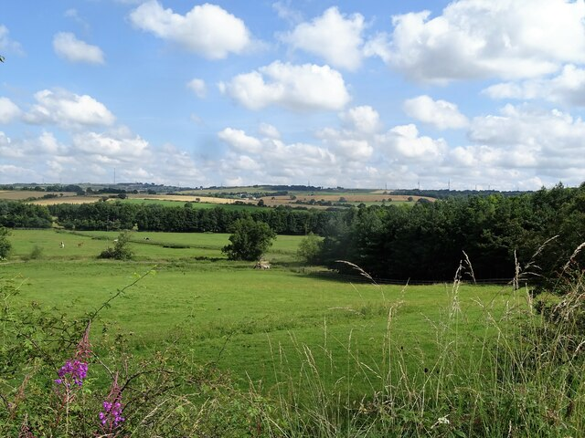 Looking over the countryside from the railway path