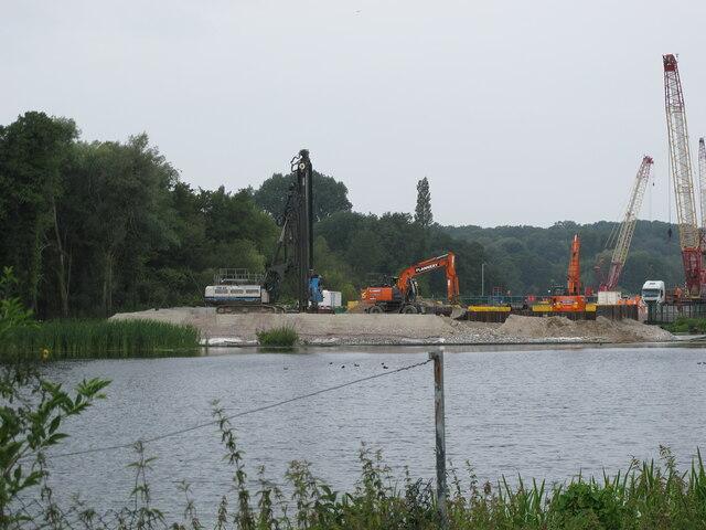 HS2 viaduct construction site